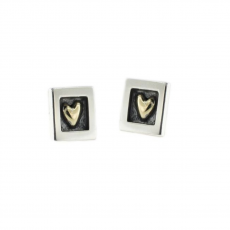 Alan Ardiff Heart of Gold Stud Earrings