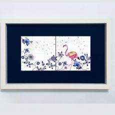 Alanna Plekkenpol Flamingo 2 Tiles Framed