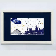 Alanna Plekkenpol Irish Weather Framed 2-Tile Limited Edition Duo