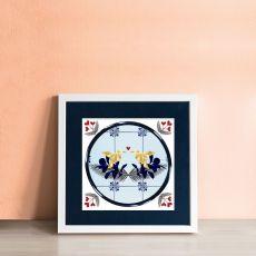 Alanna Plekkenpol love birds single framed tile