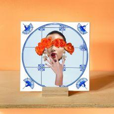Alanna Plekkenpol Rose Tinted Glasses Single With Hanging Disc