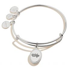 Alex and Ani Because I Love You Wife Silver Bangle