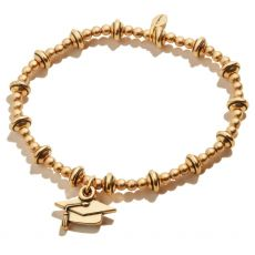 Alex and Ani Class of 2021 Gold Stretch Bracelet