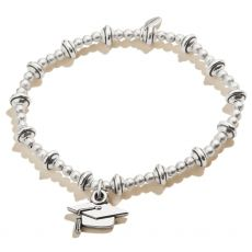 Alex and Ani Class of 2021 Silver Stretch Bracelet