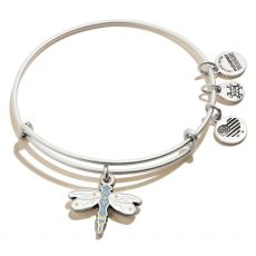 Alex and Ani Dragonfly Silver Bangle