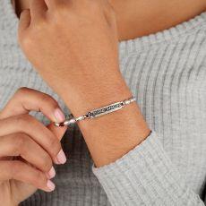 Alex and Ani Friends Logo Stretch Silver Bracelet
