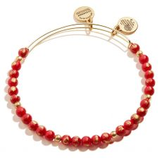 Alex and Ani Grateful Beaded Red Gold Bangle