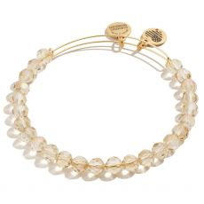 Alex and Ani Starburst Beaded Golden Bangle