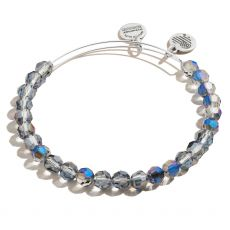 Alex and Ani Starburst Beaded Midnight Blue Silver Bangle