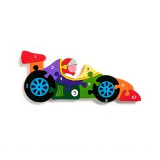 Alphabet Jigsaws Number Racing Car Jigsaw