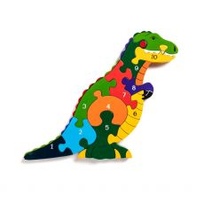 Alphabet Jigsaws Number T- Rex Jigsaw