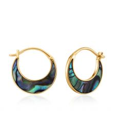 Ania Haie Tidal Abalone Crescent Earrings