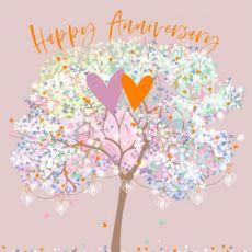 Anniversary tree card