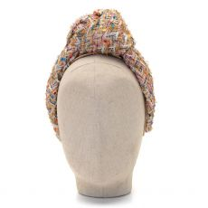 Aoife Harrison Design Gold Tweed Headband  Side