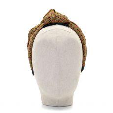 Aoife Harrison Design Khaki & Pink Leopard Headband