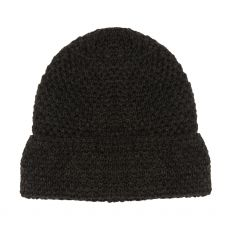 Aran Graphite Textured Hat
