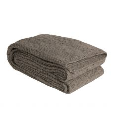Aran Light Grey Cable Texture Throw