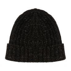 Aran Ribbed Charcoal Gents Hat