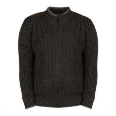 Aran Rockbrook Graphite Full Zip Sweater