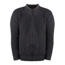 Aran Rockbrook Navy Marl Full Zip Sweater