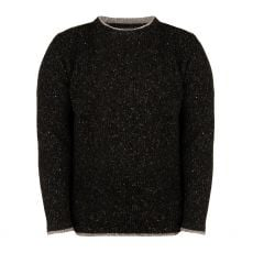 Aran Rocky Charcoal Roundstone Sweater