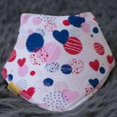 Babyboo Abstract Hearts Bib