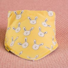 Babyboo Yellow Bunnies Bib