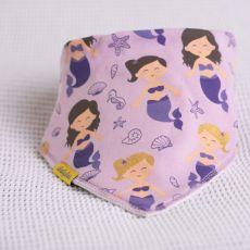 Babyboo Lilac Mermaids Bib