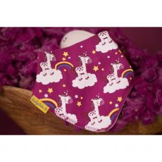 Babyboo Plum Unicorns Bib