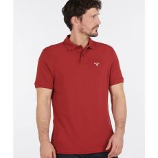 Barbour Red Brow Polo Shirt on model