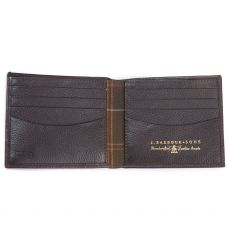 Barbour Amble Leather Billfold Brown Wallet