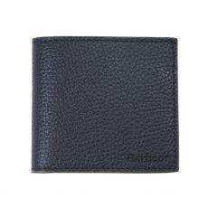 Barbour Grain Leather Billfold Black Wallet