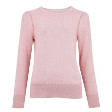 Barbour Ladies Bowand Pink Knit Sweater