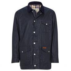 Barbour Mens Pavier Navy Wax Jacket
