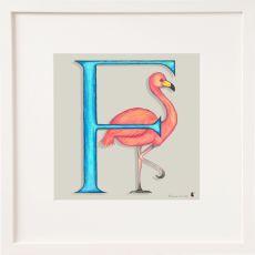 Belinda Northcote Letter F Square Frame