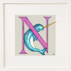 Belinda Northcote Letter N Square Frame