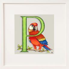 Belinda Northcote Letter P Square Frame