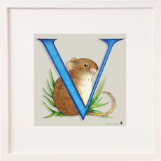 Belinda Northcote Letter V Square Frame