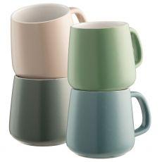 Belleek Air & Water Set of 4 Mugs