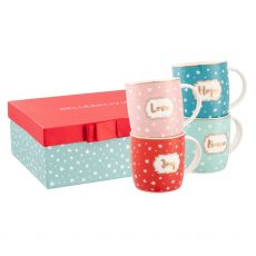 Belleek Living  Love, Peace, Joy & Hope Mug Set