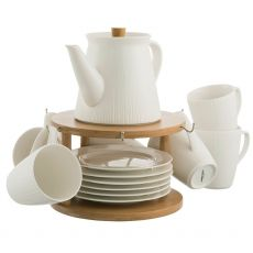 Belleek Pekoe 13 Piece Set & Stand