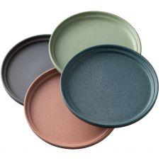 Belleek Tsuma Set of 4 Small Stacking Plates