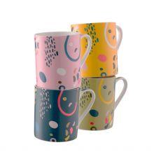 Belleek Verdant Set of 4 Mugs