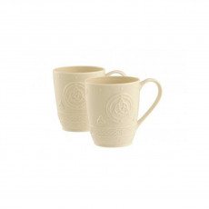 Belleek Celtic Mugs Set of 2