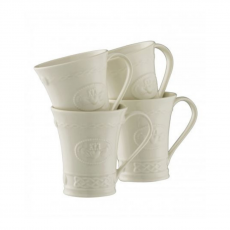 Belleek Claddagh Mugs Set of 4