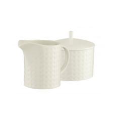 Belleek Grafton Sugar & Cream Set