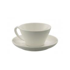 Belleek Ripple Teacup & Saucer Set of 4