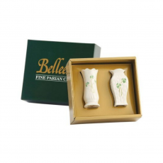 Belleek Set of 2 Mini Vases