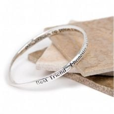 Lovethelinks Best Friend Silver Bangle