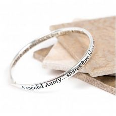 Lovethelinks Special Aunty Bangle Silver